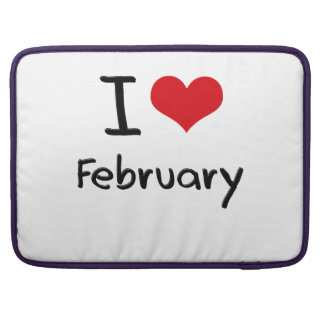 I Love February MacBook Pro Sleeves
