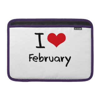I Love February MacBook Sleeve