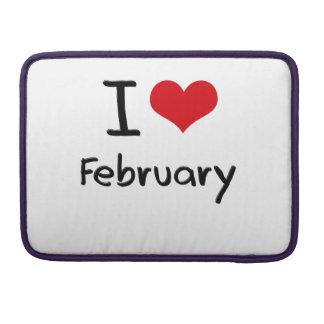 I Love February Sleeve For MacBooks