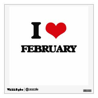 I love February Wall Graphic