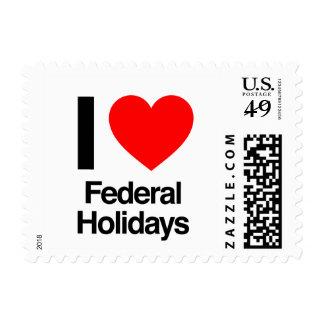 i love federal holidays stamp