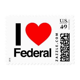 i love federal postage stamp