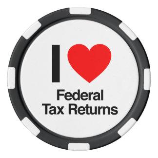 i love federal tax returns poker chip set