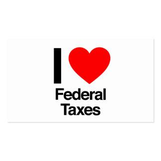 i love federal taxes business card