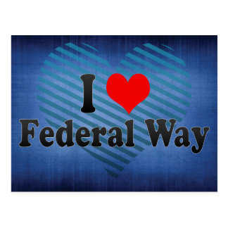 I Love Federal Way, United States Postcard