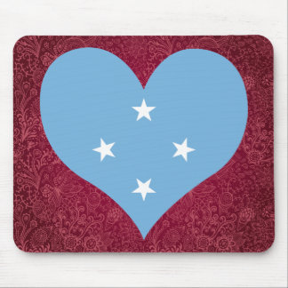 I Love Federated+States+of+Micronesia Mouse Pad