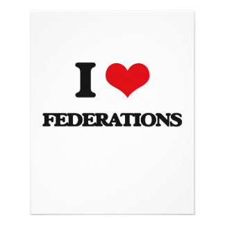 "I love Federations 4.5"" X 5.6"" Flyer"