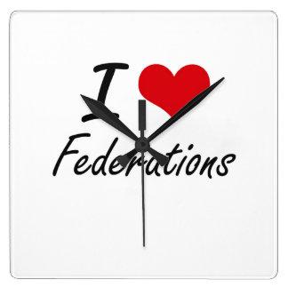 I love Federations Square Wallclock