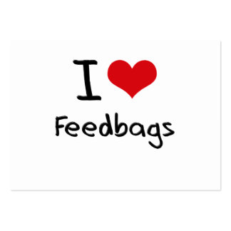 I Love Feedbags Large Business Cards (Pack Of 100)