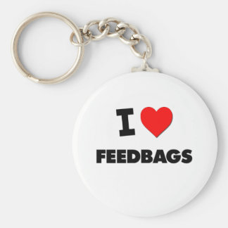 I Love Feedbags Basic Round Button Keychain