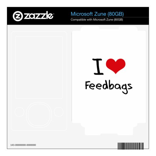 I Love Feedbags Decals For Zune