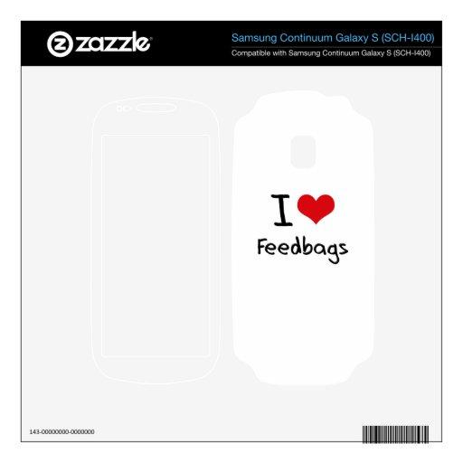 I Love Feedbags Samsung Continuum Skins