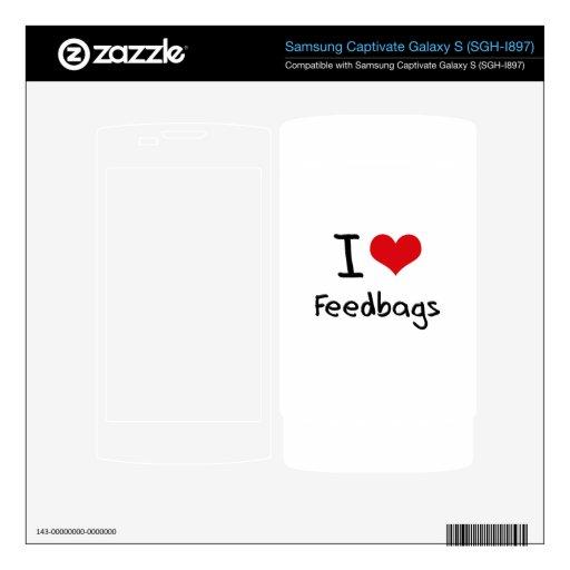 I Love Feedbags Samsung Captivate Skins