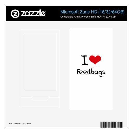 I Love Feedbags Zune HD Decal