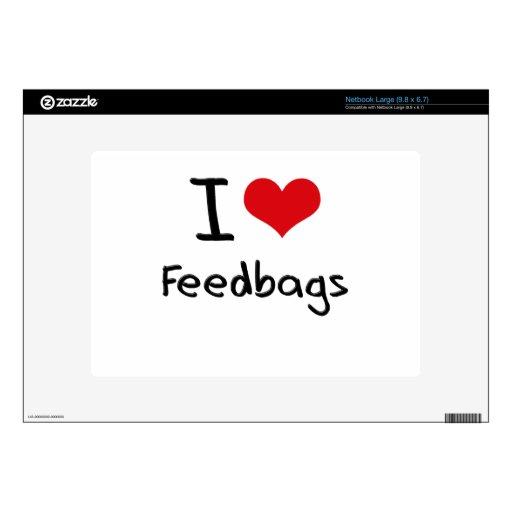 I Love Feedbags Large Netbook Skins