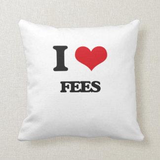 I love Fees Throw Pillows