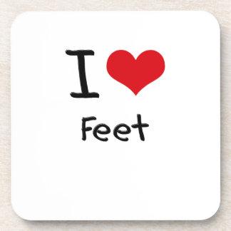 I Love Feet Drink Coaster