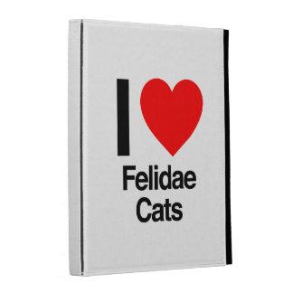 i love felidae cats iPad folio cover