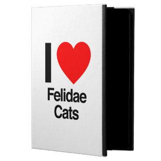 i love felidae cats iPad air cover