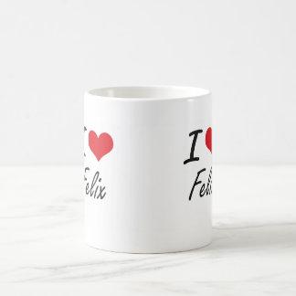 I Love Felix Classic White Coffee Mug