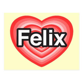 I love Felix. I love you Felix. Heart Postcard