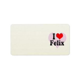 I love Felix Address Label