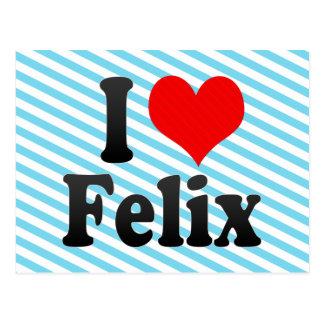 I love Felix Postcard