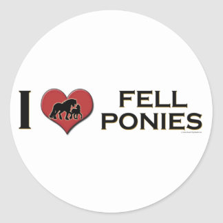"""I Love Fell Ponies: """"I Heart Fell Ponies"""" Classic Round Sticker"""