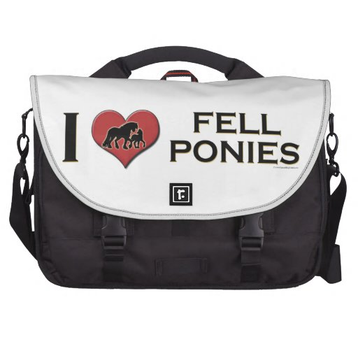 "I Love Fell Ponies:  ""I Heart Fell Ponies"" Commuter Bags"
