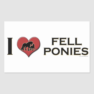 "I Love Fell Ponies:  ""I Heart Fell Ponies"" Rectangular Sticker"