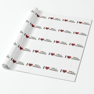 """I Love Fell Ponies:  """"I Heart Fell Ponies"""" Wrapping Paper"""