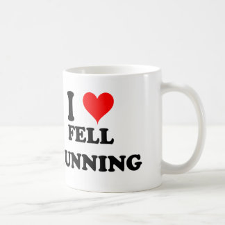 I Love Fell Running Classic White Coffee Mug
