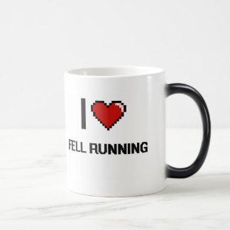 I Love Fell Running Digital Retro Design 11 Oz Magic Heat Color-Changing Coffee Mug