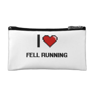 I Love Fell Running Digital Retro Design Makeup Bag