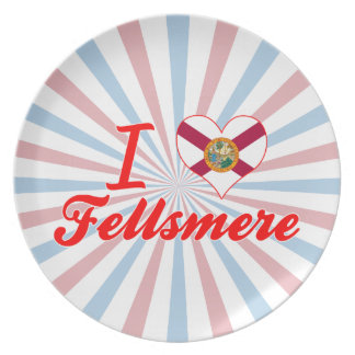 I Love Fellsmere Florida Dinner Plates