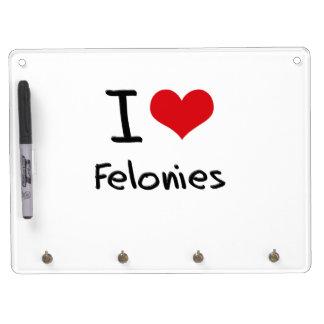 I Love Felonies Dry-Erase Whiteboards
