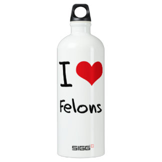 I Love Felons SIGG Traveler 1.0L Water Bottle