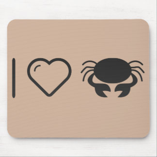 I Love Female Crabs Mouse Pad