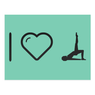 I Love Female Exercises Postcard