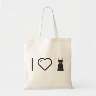 I Love Female Sleevelesses Budget Tote Bag