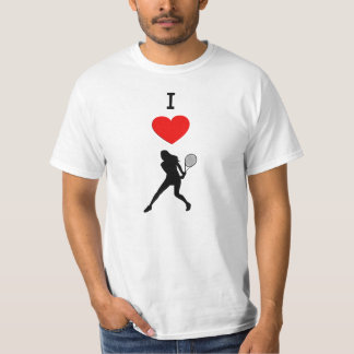 I Love Female Tennis Players Shirt