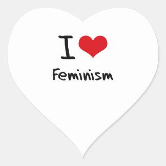 I Love Feminism Heart Sticker