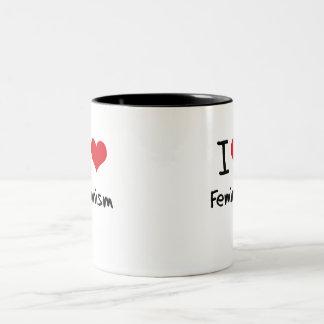I Love Feminism Coffee Mugs