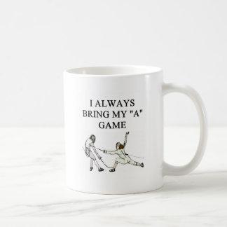 i love fencer fencing coffee mug