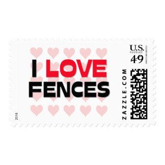 I LOVE FENCES POSTAGE STAMPS