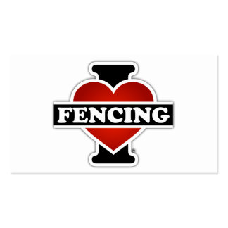 I Love Fencing Business Card