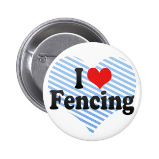 I Love Fencing Pin
