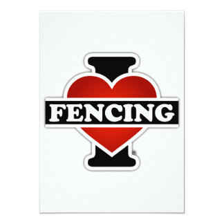 I Love Fencing Card