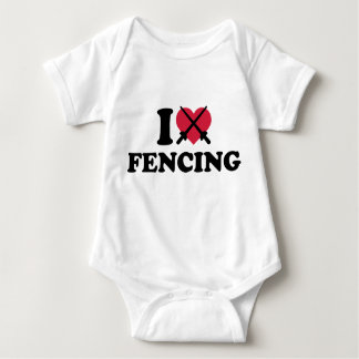 I love Fencing epee Infant Creeper
