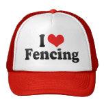 I Love Fencing Hat